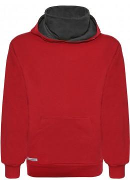Cooler Hoodie / Kapuzensweater in Rot mit eingenähter Behelfsmaske von BLUE EFFECT 5733