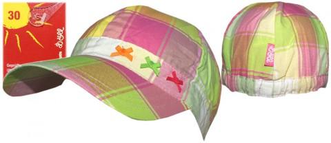 Leichtes Softcap mit Zierschleife in Neon Tönen kariert von DÖLL UV 30 Modell 1538205687 fb2023