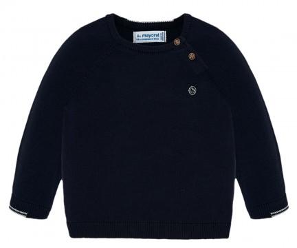 Schlichter Feinstrick Pullover Rundhals in Dark Blue / Marine von MAYORAL 309