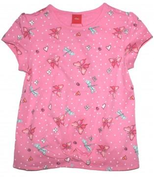 Leichtes T-Shirt in Pink mit Libellen Print in Pink / Silber Glitzer von S.OLIVER 6147