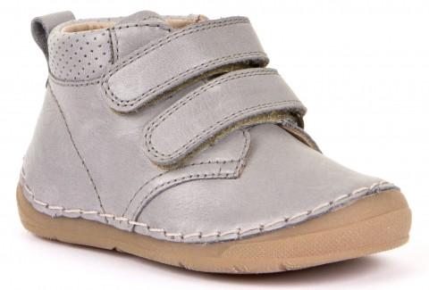 Klett Halbschuhe, Flexsohle, Glattleder für hohen Spann & breitere Füße GRAU von FRODDO 30188-3