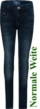 Ultra Stretch Jeans in Dark Blue Denim von BLUE EFFECT Skinny Fit, Weite: Normal 0126