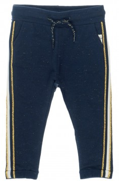 Coole Sweatpants in Navy Blau mit Gold glitzerndem Galonstreifen von FEETJE 1364