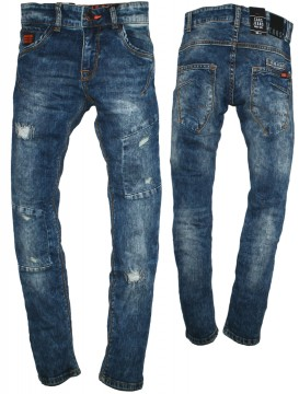 Gute Preise Ausverkauf kinder Must Have Slim Fitting Denim Destroyed in Blue Used Slim Weite von CARS  JEANS CAZAN 3172706