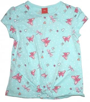 Leichtes T-Shirt in Mint mit Libellen Print in Pink / Silber Glitzer von S.OLIVER 6147