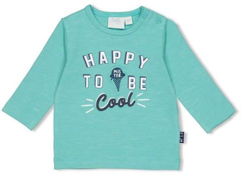"""LA Shirt aus BIO BW Slub Garn in Mint Melange mit coolem Print von FEETJE """"Team Icecream """" 1655"""