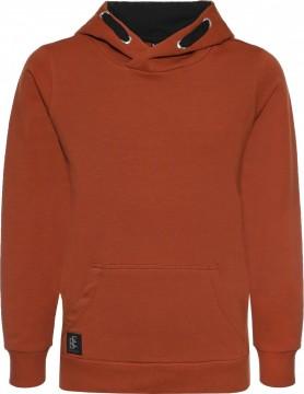 Kuschelig weicher & dicker Sweater mit Kapuze / Hoodie in Rost Orange von BLUE EFFECT 6975