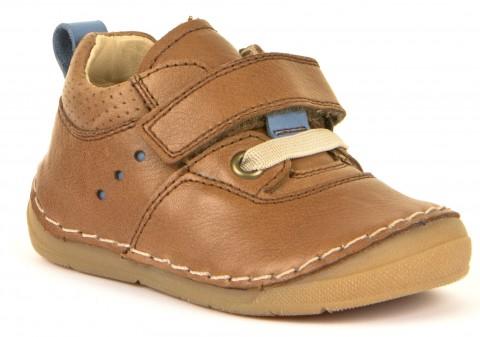 Flexibler Halbschuh mit Klett, Glattleder für hohen Spann & breitere Füße in Braun von FRODDO 30189