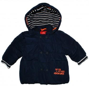 Schicke, schlichte Winterjacke mit Fleecefutter für Baby Boy in Marine von s.OLIVER Baby 2278