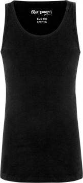Basic Top mit breiten Trägern in Schwarz aus BW Jersey von BLUE EFFECT 5750
