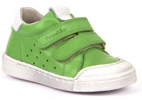 Cooler Sneaker aus Leder mit Klett in Apfel Grün, Flex Sohle von FRODDO G2130200-2