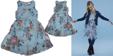 Weit schwingendes Kleid von CREAMIE Blau Töne Modell NANNA