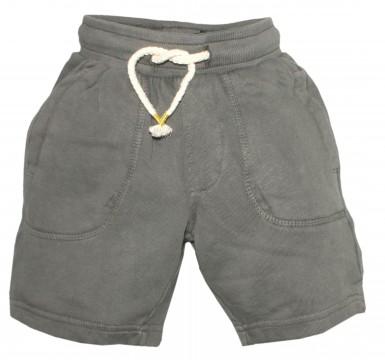 Coole Sweatshorts aus reiner BW in gedecktem Khaki Ton mit Schlupfbund von THREE OAKS 240023
