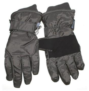 Skihandschuhe Fingerhandschuhe mit Teflon Besch. breites Bündchen von MINYMO in Bronze / Grau