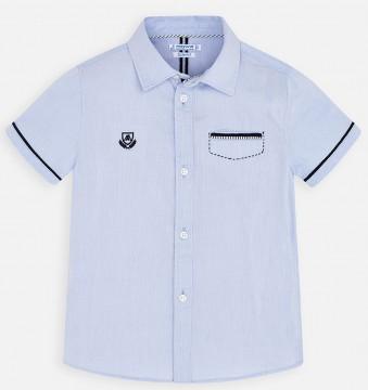 Schickes Hemd in Hellblau, Kurzarm mit dezentem Logo Stick von MAYORAL 3163