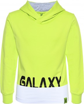 Boxy Shirt / Hoodie in Neon Apfel, Cropped Länge + weißes Longtop von BLUE EFFECT 5591