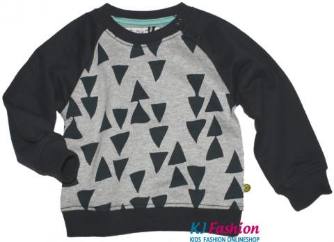 Raglansweater in Grau Melange Anthrazit DREIECKE von TINY MINYMO Ritter Serie