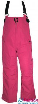 Skihose / Schneehose mit abnehm. Trägern Wasserdicht, Atmungsaktiv in Pink von Outburst