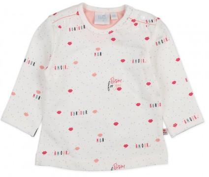 LA Shirt aus Bio BW Jersey in Weiß mit Allover Print von FEETJE Serie Mon Petit 1584