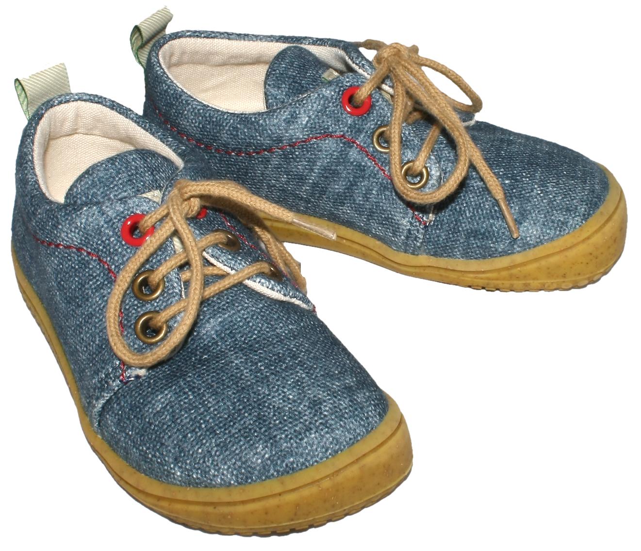 Cooler Sneaker Barfußschuh aus GOTS zertifizierter Kba BW, Jeans Blue, Modell Softway von FILII