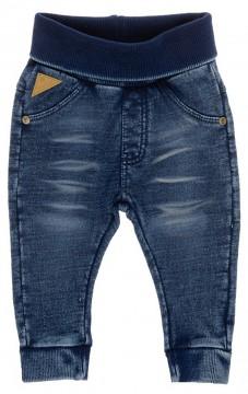 Super weiche Sweatpants im Dark Blue Denim Look aus 100% BW von FEETJE Basic Linie 1172