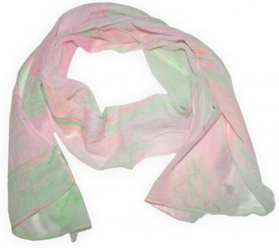 Sommerlich leichter Schal aus gecrashter Baumwolle Modell SILLESchal