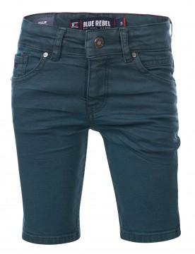 """Super Stretch Bermuda Shorts aus Color Denim in Petrol / Grün """" TILE"""" von BLUE REBEL 0132015"""