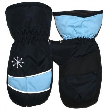 Warm haltende Fausthandschuhe mit Reflex Streifen in Marine / Hellblau von MAXIMO 520800
