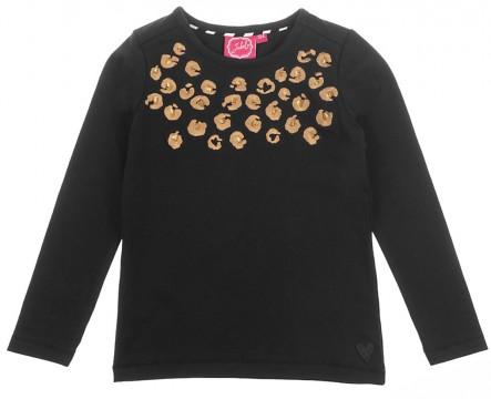 LA Shirt in Schwarz mit Leo Stick in Kupfer von JUBEL 0194