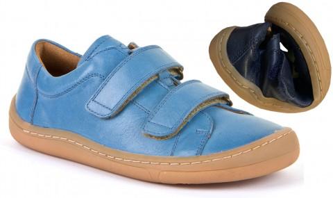Barfußschuhe / Sneaker, Glattleder mit Klett in Jeansblau von FRODDO - Weitere Weite G3130176-1