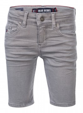 "Super Stretch Bermuda Shorts aus Color Denim in Stone Grey "" TILE"" von BLUE REBEL 0132015"