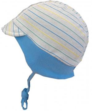 Babymütze mit Schirm, zum binden, in Grau, Hellblau, Gelb Ringel UPF 50+ von MAXIMO 065300