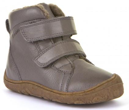 Flexibler Stiefel mit Klett, schmale Weite, Leder mit Wollfutter in GRAU von FRODDO G2110086-9