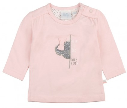 "LA Shirt in Zart Rosa aus Bio BW Jersey von FEETJE "" We Are Family "" 1557"
