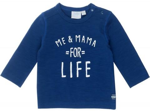Cooles LA Shirt in Kobalt Blau aus weichen BIO BW Jersey / Slub Garn von FEETJE 1396