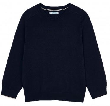Schlicht schicker Feinstrick Pullover aus weichem BW Mix in Navy / Dark Blue von MAYORAL 323 -77