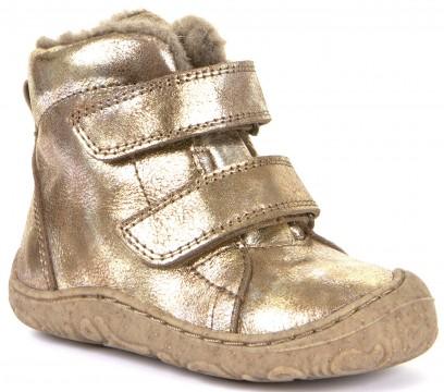 Flexibler Stiefel mit Klett, schmale Weite, aus Leder mit Wollfutter in GOLD von FRODDO G2110077