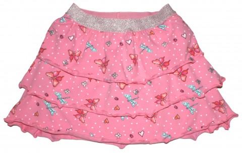 Herrlich weit schwingender Stufenrock in Pink / Libellen Design von s.OLIVER 7038