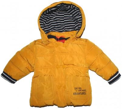 Schicke, schlichte Winterjacke mit Fleecefutter für Baby Boy in Senfgelb von s.OLIVER Baby 2278