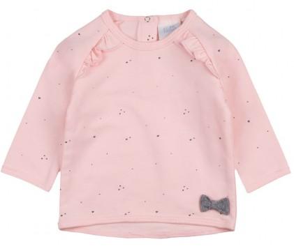 LA Shirt aus BIO BW Jersey in Zart Rosa mit Volantbesatz von FEETJE - Rainbow 1500