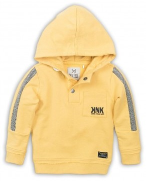 Kapuzensweater in Sonnengelb aus weichem BW French Terry für Jungen von KoKo NoKo 36837