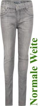 Super Stretch Jeans in Grey von BLUE EFFECT Skinny Fit, Special 4 Weite: Normal 0144