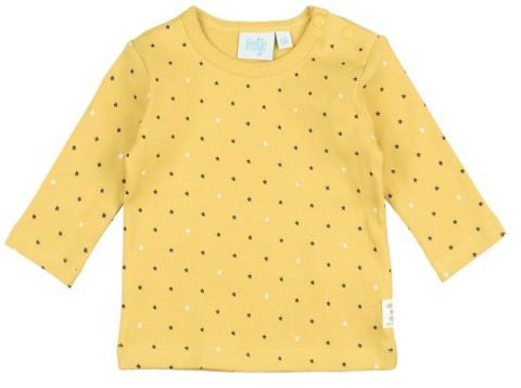 """LA Shirt aus weichem Bio BW Ripp Jersey in Senfgelb mit Sternchen AOP von FEETJE """" Stars """" 1629"""