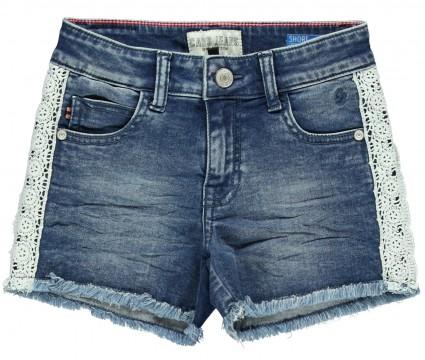 Super Stretch Hot Pants in Stoned Used mi offenen Kanten und Spitzenbesatz von CARS JEANS 3601706