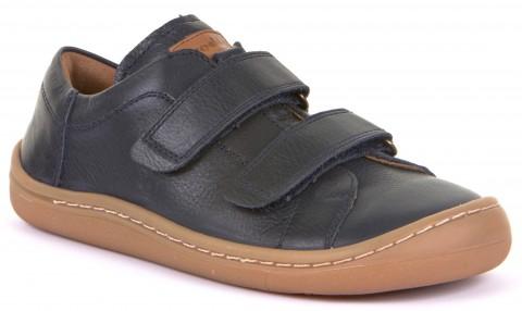 Barfußschuhe / Sneaker aus weichem Leder mit Klett in dunklem Marine Blau von FRODDO 3130148