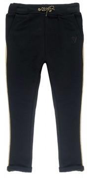 Schlichte Sweatpants in Schwarz mit goldenem Galonstreifen von JUBEL für Girls 0278