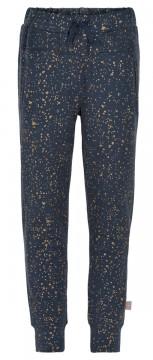 Kuschelig weiche Sweatpants in Nachtblau Gold gesprenkelt aus BW Sweat von CREAMIE 821203