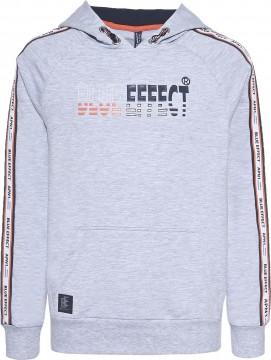 Hoodie / Kapuzensweater in Hellgrau Melange mit Logo Print von BLUE EFFECT für Boys 6099