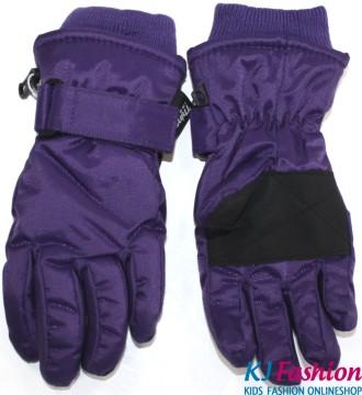 Skihandschuhe Fingerhandschuhe mit Teflon Besch. breites Bündchen von MINYMO in Violett