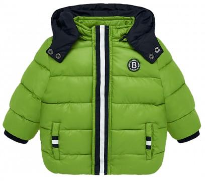 Warm wattierte, gesteppte Winterjacke mit Fleece Futter in Lemon Green von MAYORAL 2448